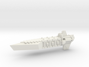 Chaos Renegade Escort Transport Ship in White Natural Versatile Plastic