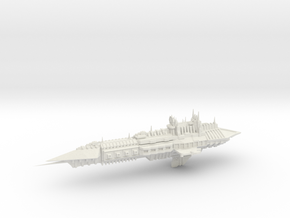 Chaos Heavy Frigate- Imperial Renegade - Concept 2 in White Natural Versatile Plastic