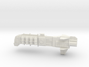 Adeptus Mechanicus Frigate - Concept C in White Natural Versatile Plastic