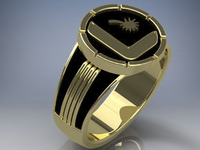 Supergirl Legion Flight Ring, size 9, 19mm Replica in Polished Brass