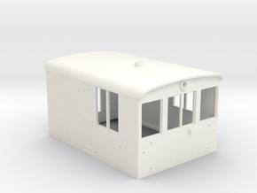 G Scale 23 Ton Box Cab Body in White Processed Versatile Plastic