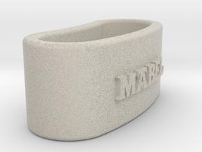 MABEL napkin ring with lauburu in Natural Sandstone