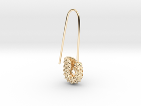 Spike Safety Pin in 14k Gold Plated Brass