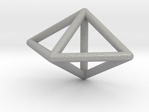 0752 J12 Triangular Bipyramid E (a=1cm) #1 in Aluminum