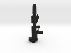Optimus Prime Blaster gun voyager Scale 5mm peg -  in Black Natural Versatile Plastic