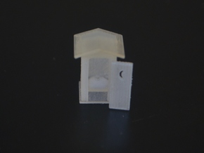 N-Scale Peaked Roof Outhouse (3-Pack) in Frosted Ultra Detail