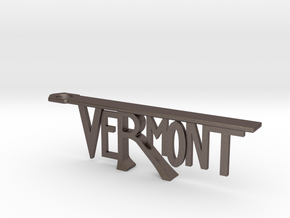 Vermont Bottle Opener in Polished Bronzed-Silver Steel