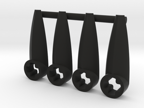 Eye Connector Type 4 Bush in Black Natural Versatile Plastic