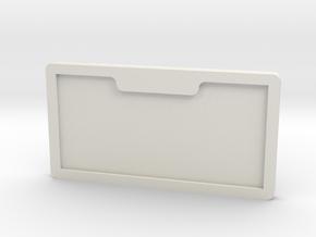 number plate holder in White Natural Versatile Plastic