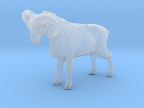 N Scale (1:160) Bighorn Sheep Ram in Smooth Fine Detail Plastic