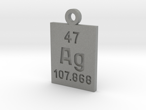 Ag Periodic Pendant in Gray PA12