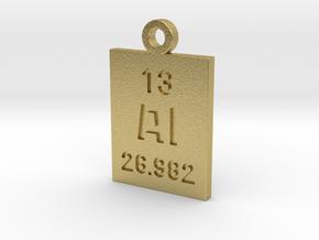 Al Periodic Pendant in Natural Brass