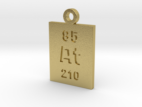 At Periodic Pendant in Natural Brass