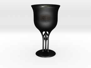 Chalice in Matte Black Steel: Small