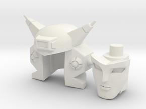 Elita-1 Head for DX9 D06 Carry in White Natural Versatile Plastic