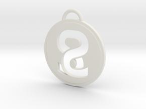 Sweaty Synergy Pendant in White Natural Versatile Plastic