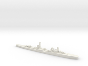 Duca d'Aosta light cruiser 1:1800 WW2 in White Natural Versatile Plastic