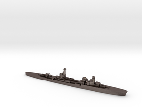 Duca d'Aosta light cruiser 1:1800 WW2 in Polished Bronzed-Silver Steel
