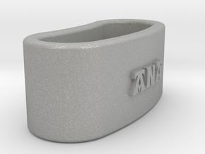 ANA 3D Napkin Ring with lauburu in Aluminum