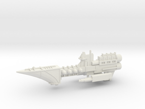 Navy Frigate - Concept 1  in White Natural Versatile Plastic