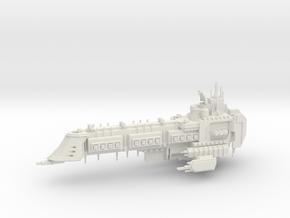 Retribution Class Capital Ship in White Natural Versatile Plastic