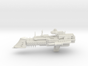 Tyrant Class Cruiser in White Natural Versatile Plastic