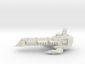 Emperor Class Capital Ship in White Natural Versatile Plastic