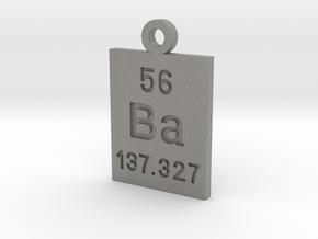 Ba Periodic Pendant in Gray PA12