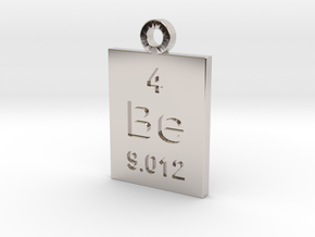 Be Periodic Pendant in Rhodium Plated Brass
