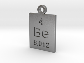 Be Periodic Pendant in Natural Silver