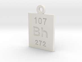 Bh Periodic Pendant in White Natural Versatile Plastic