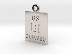 Bi Periodic Pendant in Rhodium Plated Brass