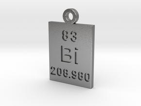 Bi Periodic Pendant in Natural Silver