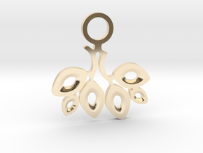 Twigs. Pendant in 14k Gold Plated Brass