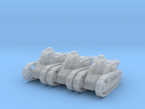 1/200 Renault FT tanks (3) in Smooth Fine Detail Plastic