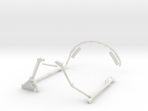 1.4 MONTANT TUBULAIRE F104 DEF in White Natural Versatile Plastic