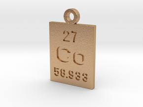 Co Periodic Pendant in Natural Bronze