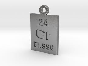 Cr Periodic Pendant in Natural Silver