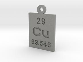 Cu Periodic Pendant in Gray PA12