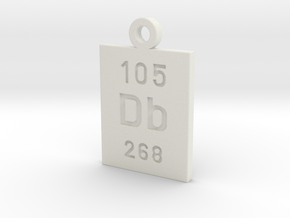 Db Periodic Pendant in White Natural Versatile Plastic