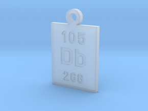 Db Periodic Pendant in Smooth Fine Detail Plastic