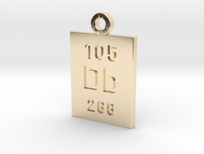 Db Periodic Pendant in 14k Gold Plated Brass