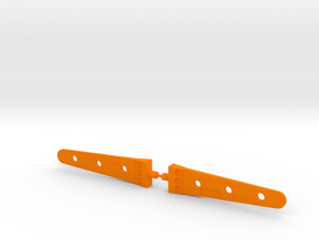 Micro Cessna Blades in Orange Processed Versatile Plastic: Medium