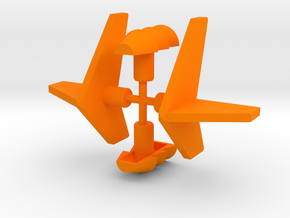 Micro Cessna Vents and Fins in Orange Processed Versatile Plastic: Large