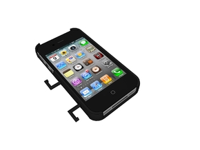 IPhone4/4s Case With Headphones Holder in Black Strong & Flexible