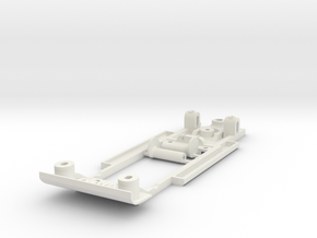 Chassis for Scalextric Mustang (C2436 or similar) in White Natural Versatile Plastic
