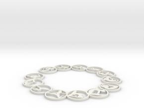 63.5 2mm bangle in White Natural Versatile Plastic