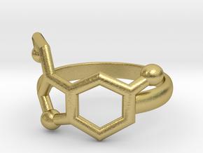 Serotonin Molecule Ring Minimal in Natural Brass: 3.5 / 45.25