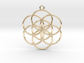 Seed of Life in 14K Yellow Gold