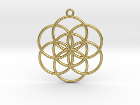 Seed of Life in Natural Brass